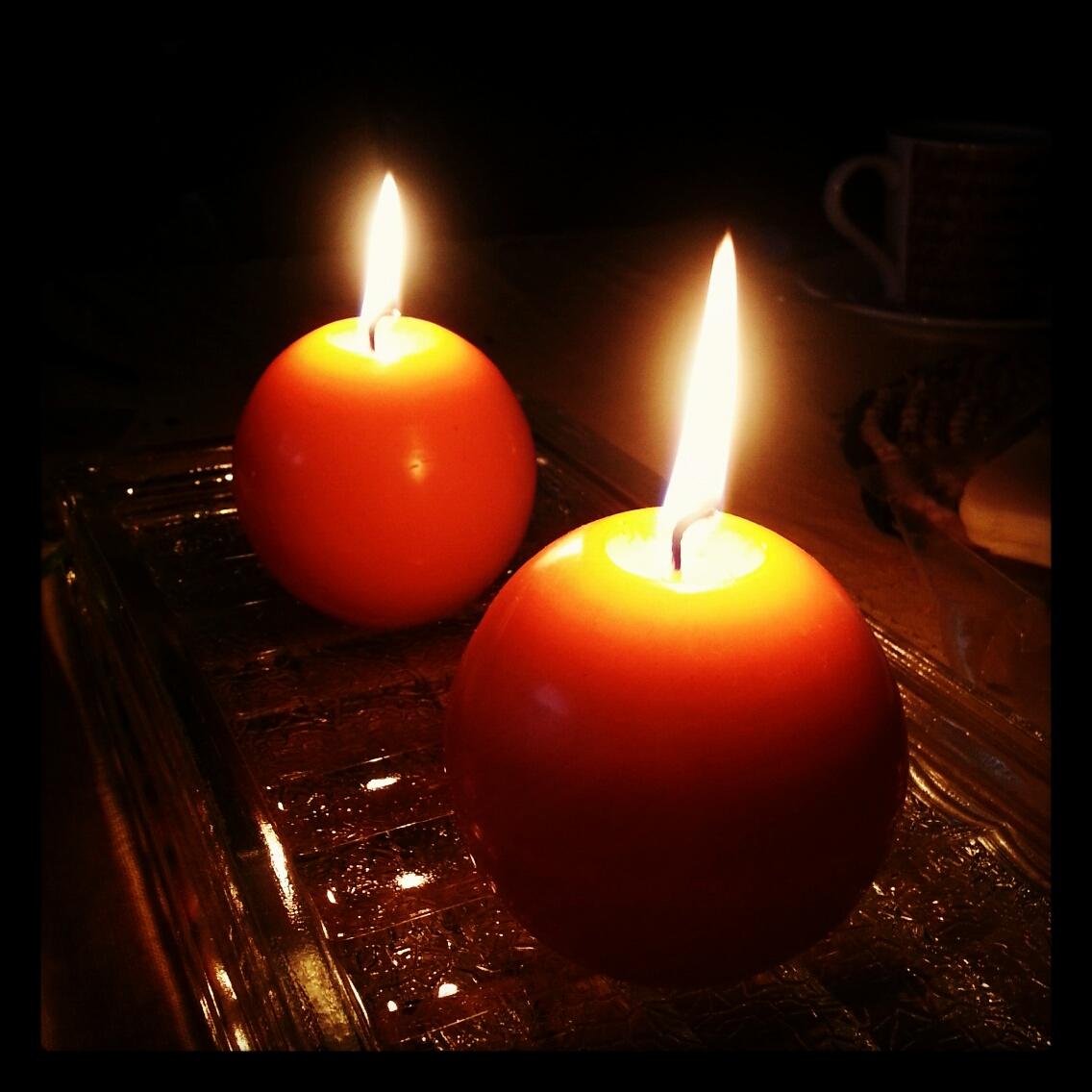 Depois da tempestade da madrugada e manhã... um jantar à luz das velas..